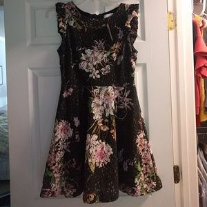 NWT Anthropologie Flutter Sleeve  Floral Dress